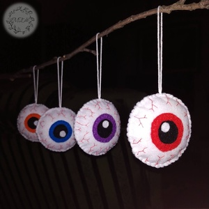 Halloween ijesztő szemek, Otthon & Lakás, Dekoráció, Függődísz, Varrás, Lepd meg barátaidat, rokonaidat, vagy akár munkatársaidat ezekkel az ijesztő szemekkel!!!\nHalloween-..., Meska