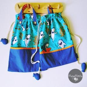 Cápás gyermek táska +tornazsák oviszsák óvodai zsák játéktároló tároló ruhazsák ruha zsák ovizsák ovis zsák ovi, Gyerek & játék, Táska, Divat & Szépség, Táska, Gyerekszoba, Otthon & lakás, Varrás, FONTOS INFORMÁCIÓ A RENDELÉSSEL KAPCSOLATBAN:\njelet, illetve nevet nem áll módomban a zsákokra varrn..., Meska