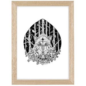 Az Erdő Őrzői - Vaddisznó, Tollrajzról készített print, üvegezett fa keretben, Művészet, Grafika & Illusztráció, Fotó, grafika, rajz, illusztráció, Tollrajzról készített nyomat többféle méretben, üvegezett fa keretben.\n\nAz Erdő Őrzői című, 8db-os i..., Meska