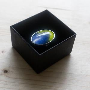 kézzel festett üveglencsés gyűrű, Ékszer, Gyűrű, Üveglencsés gyűrű, Ékszerkészítés, Élvezd ezt az egyedülálló alkotást mint dekoratív kiegészítőt, mely csak neked készült.\n\nAz ezüst sz..., Meska