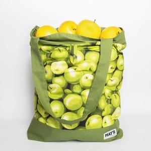 """MAY'R Bevásárló táska """"almás"""", Shopper, textiltáska, szatyor, Bevásárlás & Shopper táska, Táska & Tok, Varrás, Kézzel készűlt, egyedi bevásárló táska.\nBelső zsebbel és trendi megjelenéssel.\n\nA méteráru mintájábó..., Meska"""