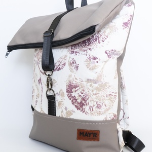 MAY\'R Roll Top táska/hátitáska, Táska & Tok, Hátizsák, Roll top hátizsák, Varrás, Textilbőr és vastag vászonanyag nászából született ez a táska.\nbélése, 100 % pamutvászon, amit egy h..., Meska