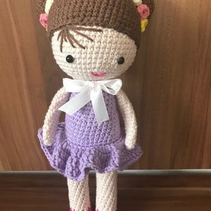 Amigurumi Baba, Játék & Gyerek, Baba & babaház, Baba, Horgolás, Én egy igazi kislány vagyok. Magasságom kb 25 cm. Testem Alize pamut fonalból készült. Szemeim bizto..., Meska