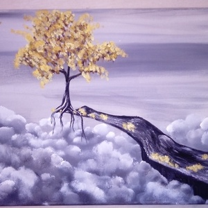 Felhők fölött, Lakberendezés, Otthon & lakás, Képzőművészet, Festmény, Akril, Festészet, 30*40-es vászonra készült, akril festékkel, Meska