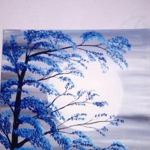 Holdfény, Lakberendezés, Otthon & lakás, Képzőművészet, Festmény, Akril, Festészet, 50*50-es vászonra készült, akril festékkel, Meska