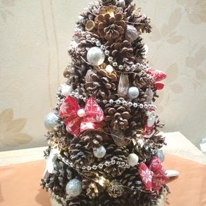 Karácsonyfa toboz fenyő, Karácsony & Mikulás, Karácsonyi dekoráció, Mindenmás, Szeretem a természetes anyagokat, egy csipetnyi természetet hoztam a Karácsonyi készülődés meghitt p..., Meska