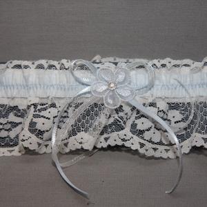 Menyasszonyi,esküvői harisnyakötő,combdísz,fehér, Esküvő, Hajdísz, ruhadísz, Varrás, Elegáns,csipkés menyasszonyi combdísz,harisnyakötő.\nRugalmas,normál méret.\nA babona szerint,minden m..., Meska