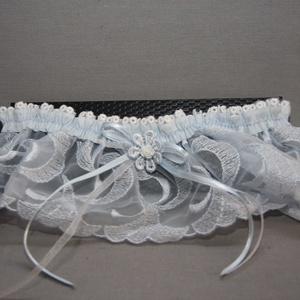 """Menyasszonyi,esküvői harisnyakötő,combdísz \""""valami kék\"""", Esküvő, Kiegészítők, Harisnyatartó & Valami kék, Varrás, Elegáns,romantikus,menyasszonyi combdísz,harisnyakötő.\nRugalmas,minden méretre passzol.\nA babona sze..., Meska"""