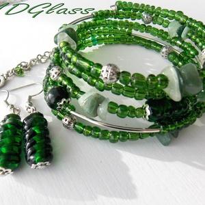 Smaragdzöld  lámpagyöngyös nyaklánc (MDGlass) - Meska.hu