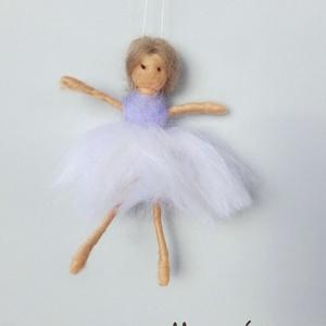 Balerina, Gyerek & játék, Gyerekszoba, Mobildísz, függődísz, Otthon & lakás, Dekoráció, Dísz, Nemezelés, 14 cm -es felfüggeszthető balerinafigura, Meska