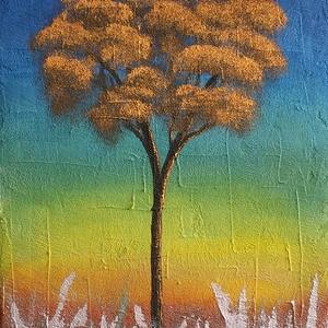 Ezüst és arany  -akrilfestmény, Művészet, Festmény, Akril, Festészet, 30x40 cm akrilfestmény, feszített vásznon. Szignózva. A képet kézzel festettem, saját fantáziámból. ..., Meska