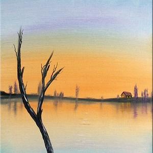 Túlélés -olajfestmény, Otthon & lakás, Képzőművészet, Festmény, Olajfestmény, Dekoráció, Festészet, 58x25 cm-es olajfestmény. Feszített vásznon, az oldalain is festve. A képet kézzel festettem, saját ..., Meska