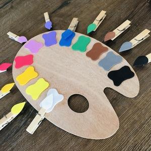 Színkirakó festőpalettán, Készségfejlesztő & Logikai játék, Játék & Gyerek, Mindenmás, Ezzel a játékkal egyszerre fejlesztheted gyermeked színismeretét, finommotorikus mozgását, valamint ..., Meska