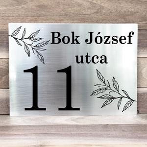 Egyedileg gravírozott nemesacél házszámtábla (MeDaLia) - Meska.hu