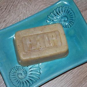 Vegán természetes sampon szappan Holt-tengeri iszappal zöld tea búzavirág főzettel környezetbarát ajándék szülinapra is, Szépségápolás, Sampon & Hajápolás, Kozmetikum készítés, Szappankészítés, Ez a kézbe illő formájú sampon szappan nagyon jól tisztít és remekül habzik. Értékes olajai és vajai..., Meska