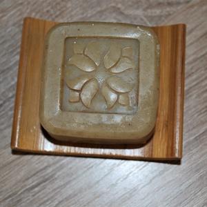 Vegán jujube természetes sampon szappan zöld teával és piros mandarinnal környezettudatos ajándék szülinapra névnapra is (medalin) - Meska.hu