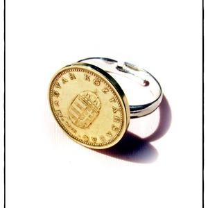 Retro Érme Gyűrű 1Ft (2 variáns), Ékszer, Gyűrű, Pecsétgyűrű, Ékszerkészítés, Fémmegmunkálás, Meska