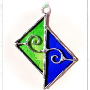 Tiffany AD (ablakdísz) kék/zöld - Meska.hu