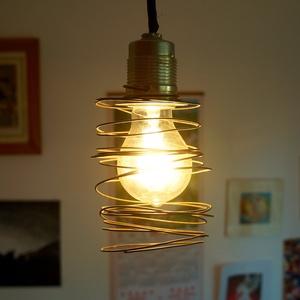 Rugó Edison lámpabúra, Otthon & Lakás, Lámpa, Fali & Mennyezeti lámpa, Mindenmás, Drót spirál lámpabúra Edison típusú villanykörtéhez ajánlott.  Hangulatlámpa otthonra vagy vendéglát..., Meska