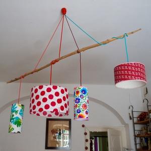 Egyedi, elegáns lámpabúra. Mérete: karika váz átmérője 40 cm, magassága kb. 25 cm. Más anyag is választható hozzá. Anyag (MeiaLua) - Meska.hu