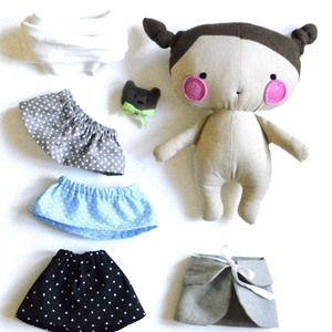 Baba készlet ruhák ágy színező kitűző Rongybaba Játék baba Játékbaba (meilingerzita) - Meska.hu