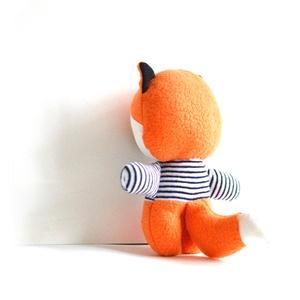 Róka játékfigura csíkos pulóverben Plüss játék Plüss figura Plüssróka (meilingerzita) - Meska.hu