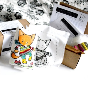 DIY Készítsd magad Csináld magad leírás készlet hímzés varrás kreatív alkotó csomag - medve maci mackó (meilingerzita) - Meska.hu
