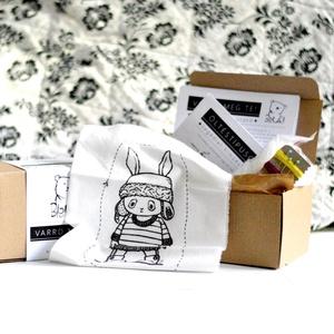 DIY Készítsd magad Csináld magad leírás készlet hímzés varrás kreatív alkotó csomag - nyúl nyuszi (meilingerzita) - Meska.hu