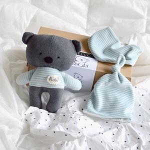 Babaváró csomag - medve maci mackó - babasapka - babakendő - baba kendő - nyálkendő - plüss pamut - fiú lány - újszülött (meilingerzita) - Meska.hu