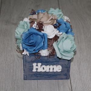 rózsás asztaldísz, őszi dísz, Otthon & Lakás, Dekoráció, Asztaldísz, Virágkötés, Meska