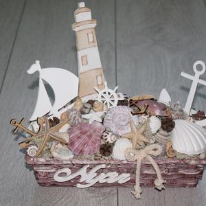 Nyári, tengeri, kagylós asztaldísz - Meska.hu