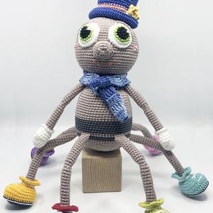 Mister Spider, Más figura, Plüssállat & Játékfigura, Játék & Gyerek, Horgolás, Mister Spider - horgolt amigurumi figura\n\nMéret: 32 cm magas\n\nAnyagok: 100% pamut fonal, polyester t..., Meska
