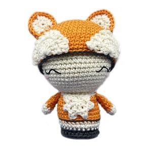 Laura, the fox, Róka, Plüssállat & Játékfigura, Játék & Gyerek, Horgolás, Laura egy nagyon bájos, kedves mini rókalány, aki mindig szerencsét hoz a kis gazdájának.\nMéret: 11 ..., Meska