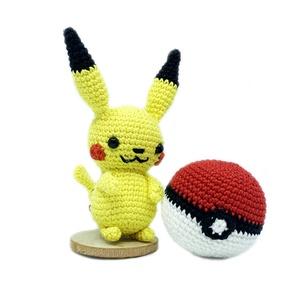 Pikachu, Más figura, Plüssállat & Játékfigura, Játék & Gyerek, Horgolás, Pikachu a legismertebb Pokémon, ő volt az első elektromos típusú. A legismertebb támadása a Villámcs..., Meska
