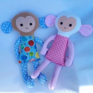 Monkey pajti 44cm, Gyerek & játék, Játék, Játékfigura, Húsvéti díszek, Ünnepi dekoráció, Dekoráció, Otthon & lakás, Varrás, Aranyos Majmocskát készitettem,mely társa lehet gyermekednek a mindennapokban. Magassága 44cm. Anyag..., Meska