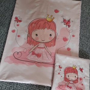 Hercegnő mintájú baba-gyermek takaró szett, Gyerek & játék, Gyerekszoba, Falvédő, takaró, Otthon & lakás, Varrás, Különleges hercegnő mintájú baba-gyermek takaró,lapospárna szettet készítettem.\nAjánlom babalátogató..., Meska