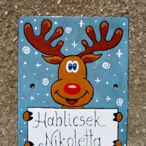 Rudolf-tűzzománc névtábla, Férfiaknak, Otthon & lakás, Lakberendezés, Utcatábla, névtábla, Fémmegmunkálás, Tűzzománc, Rudolfot mindenki szereti!\nIgazán találó ajándék karácsonyra.\nA fotón egy mintadarabot látsz. Az ált..., Meska