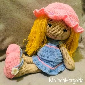 Dolly baba, Játék, Gyerek & játék, Baba játék, Horgolás, Horgolt kislány, levehető ruhával , Meska