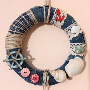 Mint hal a vízben :), Otthon & Lakás, Dekoráció, Falra akasztható dekor, Mindenmás, Egyszerű és mégis mutatós falra akasztható, vagy ajtódísz. Bárhová kerül is a házban, igazi tóparti ..., Meska