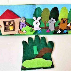 A Vajaspánkó interaktív ujjbáb könyv, Játék & Gyerek, Bábok, Baba-és bábkészítés, Varrás, Meska