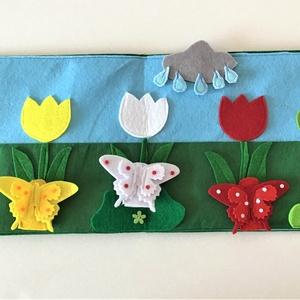 A három pillangó interaktív ujjbáb könyv, Játék & Gyerek, Bábok, Báb készlet, Baba-és bábkészítés, Varrás, Saját tervezésű interaktív ujjbáb könyv  A három pillangó történethez, amely nem csak kitűnő szórako..., Meska