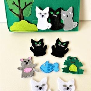 A három kiscica interaktív ujjbáb könyv , Játék & Gyerek, Bábok, Báb készlet, Varrás, Meska