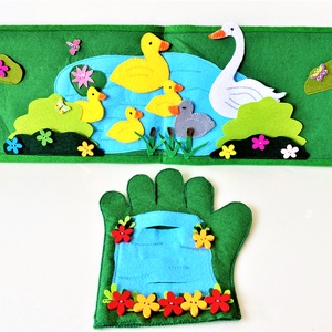A rút kiskacsa interaktív ujjbáb könyv , Játék & Gyerek, Bábok, Báb készlet, Varrás, Saját tervezésű interaktív ujjbáb könyv A rút kiskacsa történethez, amely nem csak kitűnő szórakozás..., Meska