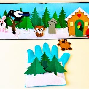 A télapó kesztyűje interaktív ujjbáb könyv, Játék & Gyerek, Bábok, Báb készlet, Varrás, Saját tervezésű interaktív ujjbáb könyv A télapó kesztyűje történethez, amely nem csak kitűnő szórak..., Meska