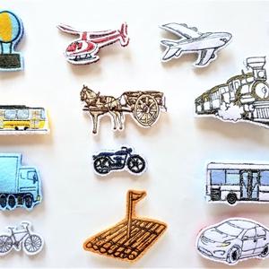 Járművek - Tépőzáras kiegészítő, Játék & Gyerek, Készségfejlesztő & Logikai játék, Varrás, A saját tervezésű tépőzáras figurákkal képeket alkothatunk, amelyek fejlesztik a gyerekek gondolkodá..., Meska