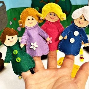 Holle anyó interaktív ujjbáb könyv leírása - játék & gyerek - bábok - báb készlet - Meska.hu