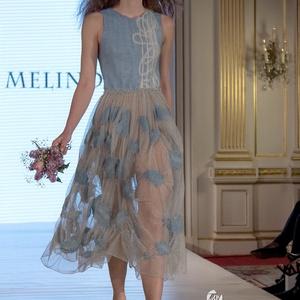 Nuno nemez ruha 2018 (1), Táska, Divat & Szépség, Női ruha, Ruha, divat, Estélyi ruha, Ruha, Nemezelés, Tavasszal bemutatott ruha az új  kollekciómból a Budapest Fashion Week-n.Mérete 36-38-as picit alakí..., Meska
