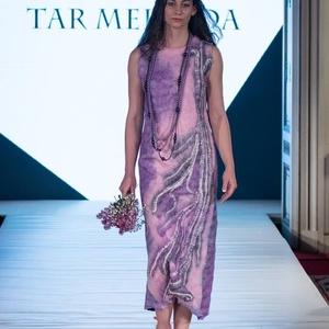 Nunonemez ruha(rózsaszín-lila), Táska, Divat & Szépség, Női ruha, Ruha, divat, Estélyi ruha, Ruha, Nemezelés, Selyemfestés, Nunonemez alkalmi ruha selyem és ausztrál extra minőségű merinó nemezéből.Színe az idei év divatszín..., Meska