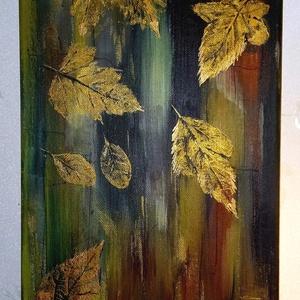 Őszi hangulat, Művészet, Festmény, A kép modern hatású, az ősz gyönyörű színeit vonultatja fel! A formája hosszúkás 60 x 25 cm. Lakásba..., Meska