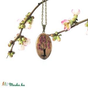 Tavasz nyaklánc, barna és bordó (Memelye) - Meska.hu